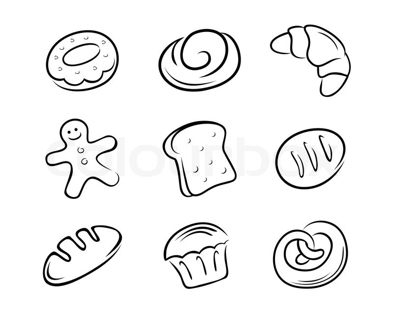 Bread Rolls Drawing a Collection of Bread in Hand