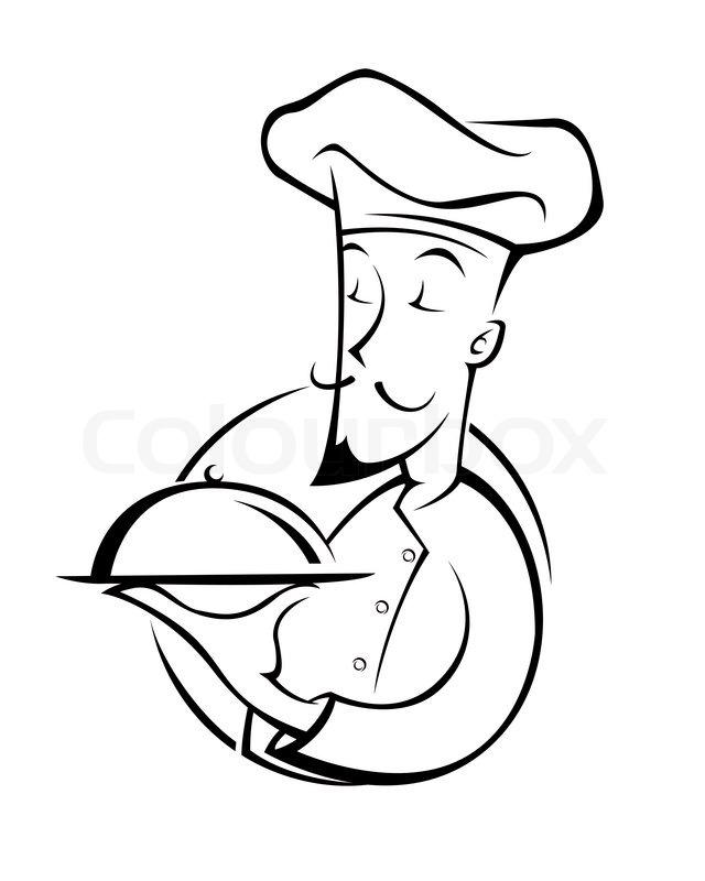 Chef illustration silhouette | Stock Vector | Colourbox
