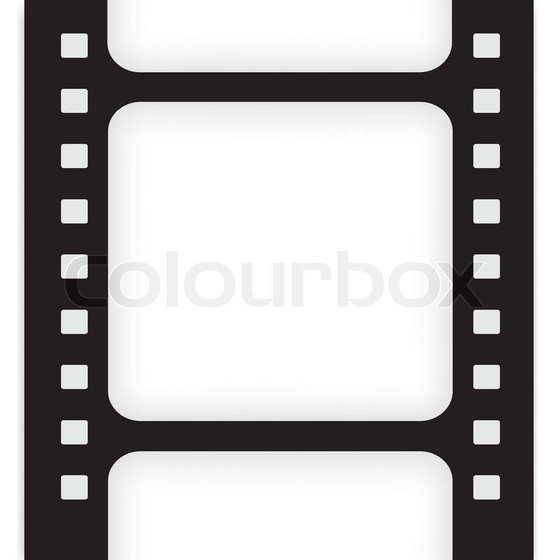 Old filmstrip. Movie ending frame. | Stock Vector | Colourbox