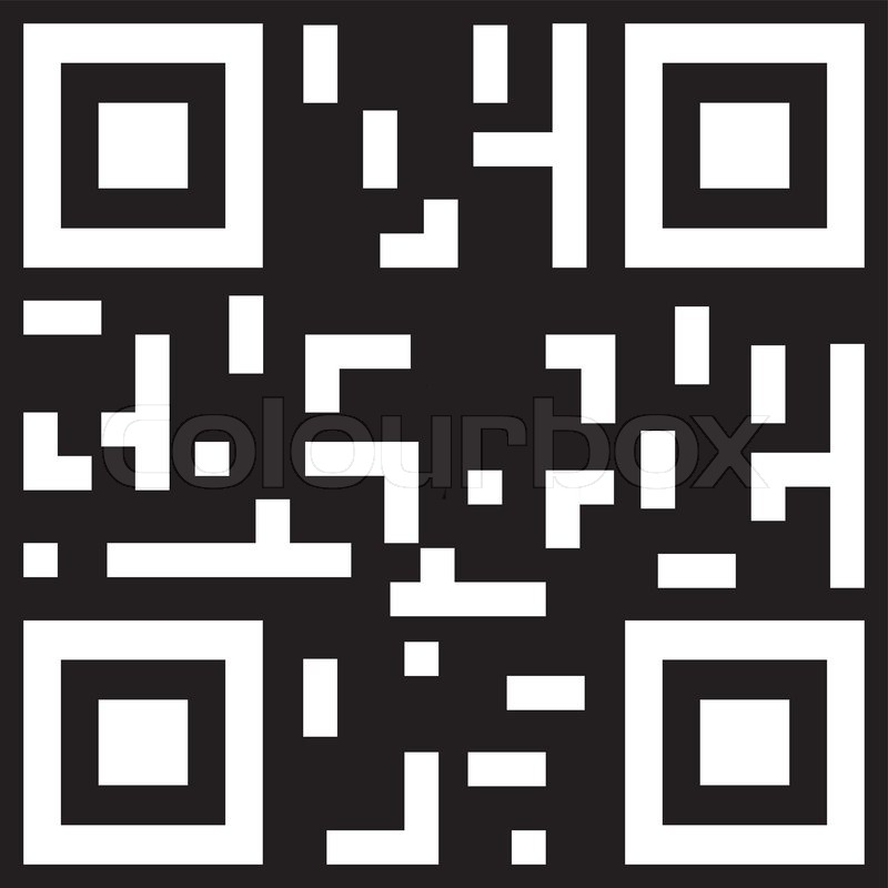 Sample qr code ready to scan | Stock vector | Colourbox