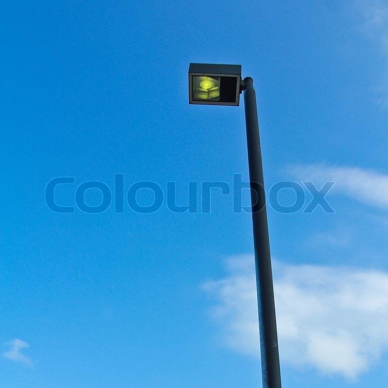 Light poles, stock photo
