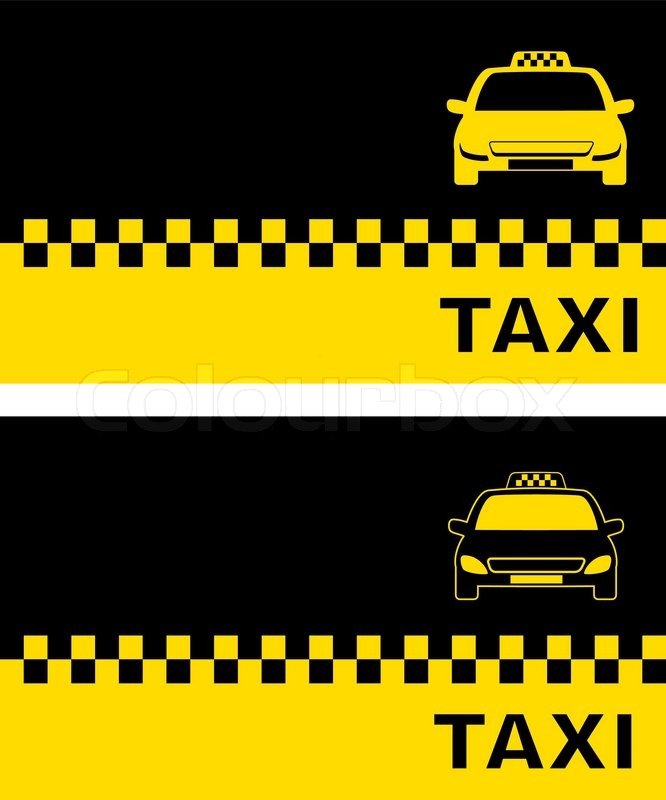 Two business card with taxi | Stock Vector | Colourbox