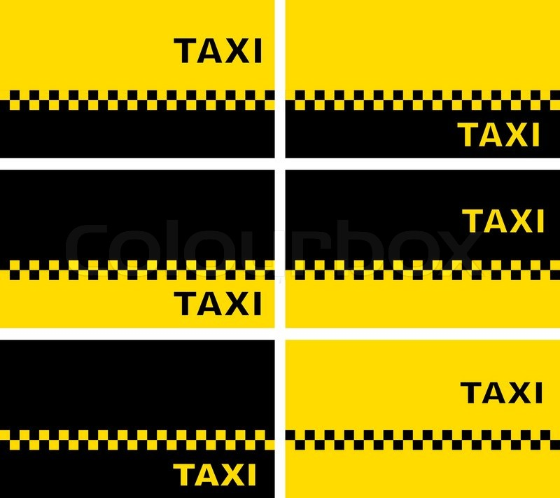 set of taxi business cards stock vector colourbox - Taxi Business Cards