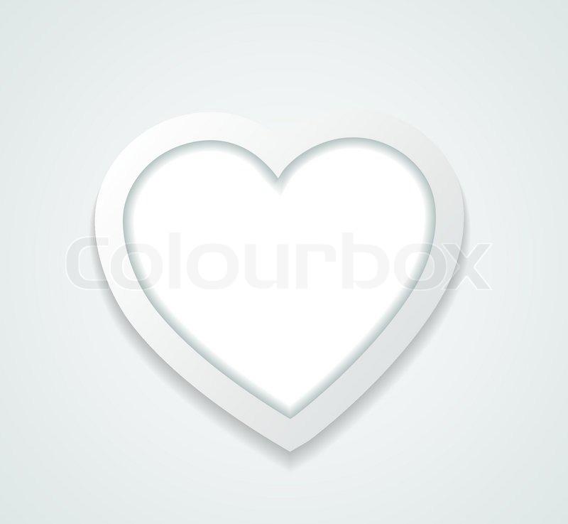 Muster-Rahmen in einem Herz aus Papier | Vektorgrafik | Colourbox