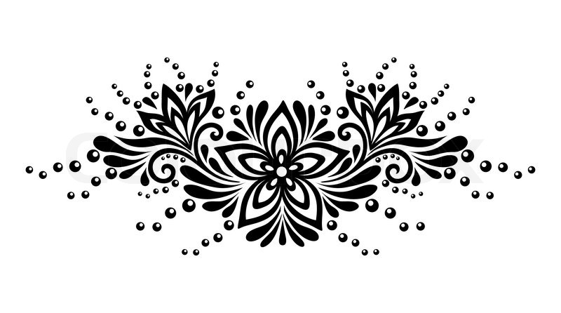 Black and white lace f...