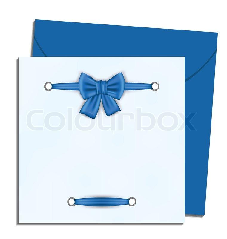 Weihnachten Brief mit Geschenk-Schleife | Vektorgrafik | Colourbox