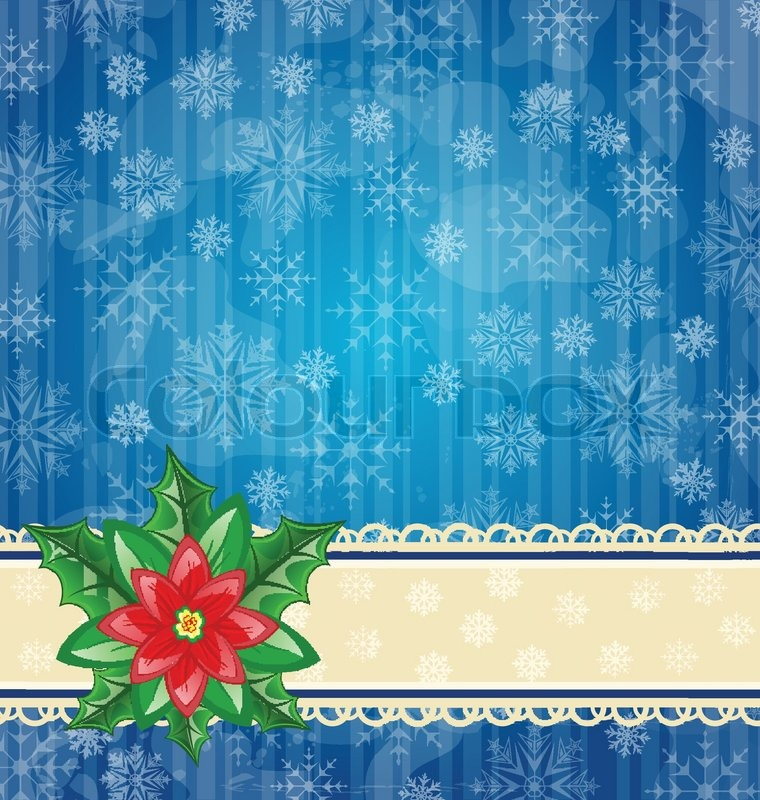 weihnachten wallpaper mit blume weihnachtsstern vektorgrafik colourbox. Black Bedroom Furniture Sets. Home Design Ideas
