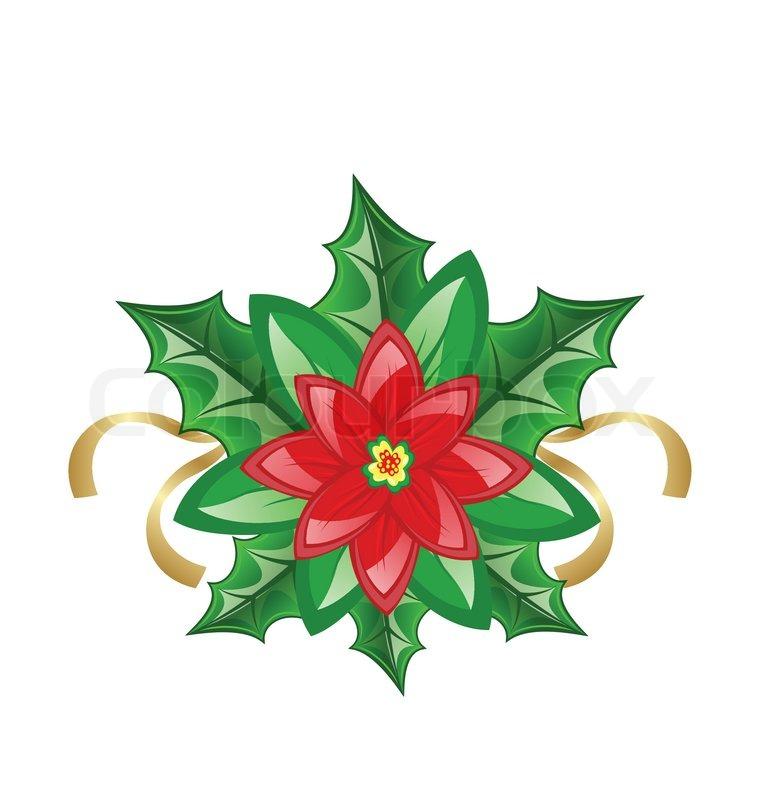Blume Weihnachtsstern für Weihnachtsdekoration | Vektorgrafik ...