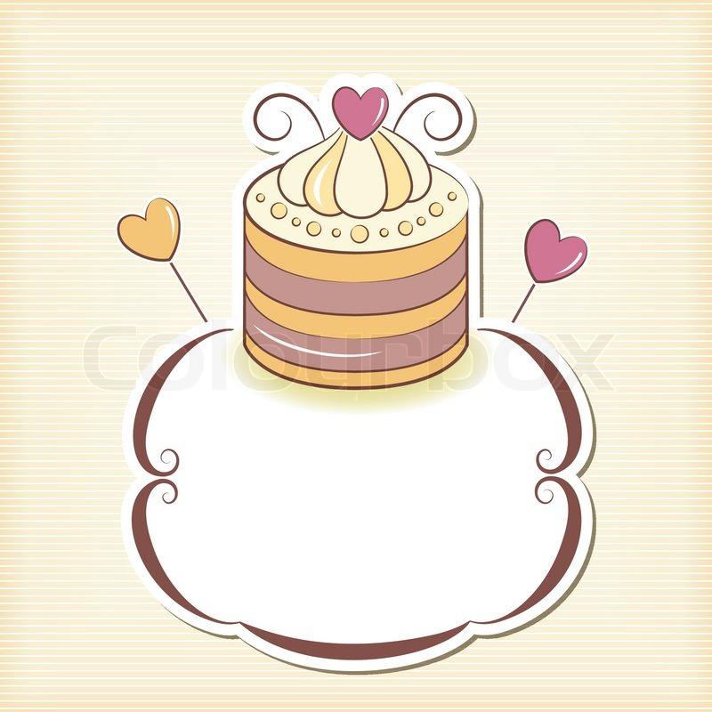 Cute cupcake design frame   Stock Vector   Colourbox