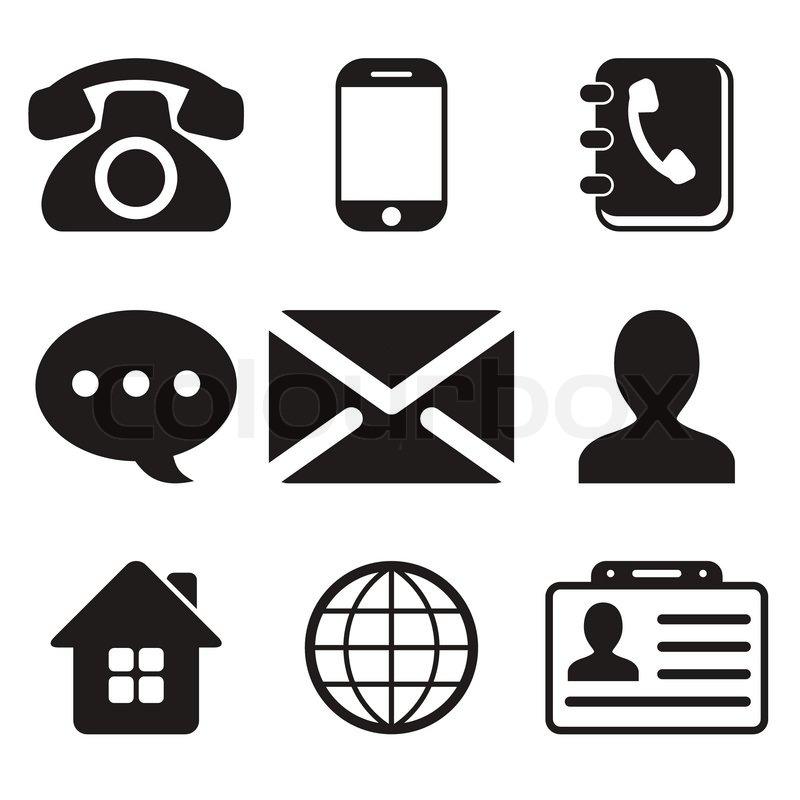 kontakt ikoner set
