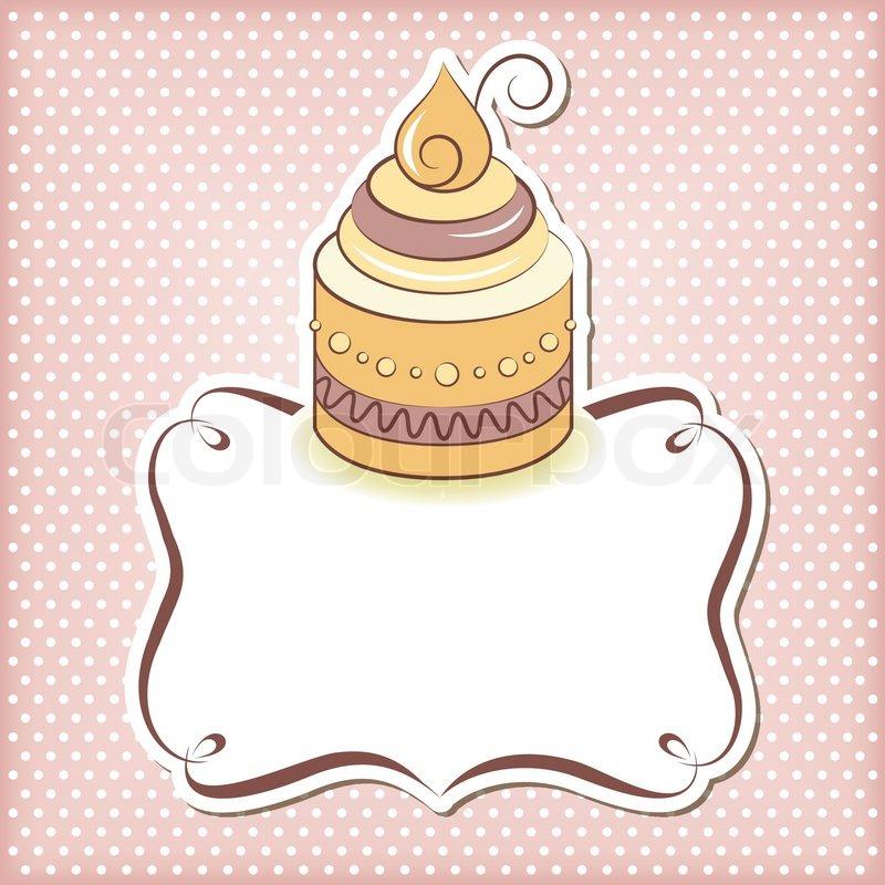 Netter kleiner Kuchen Rahmen | Vektorgrafik | Colourbox