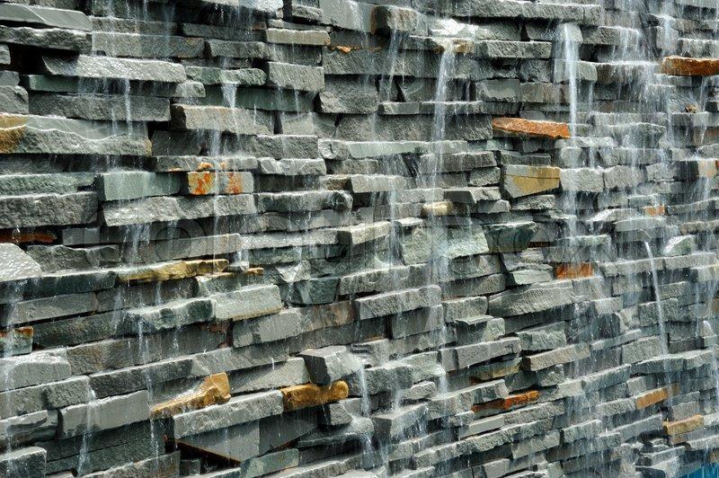 Wand Wasserfall Stock Bild Colourbox