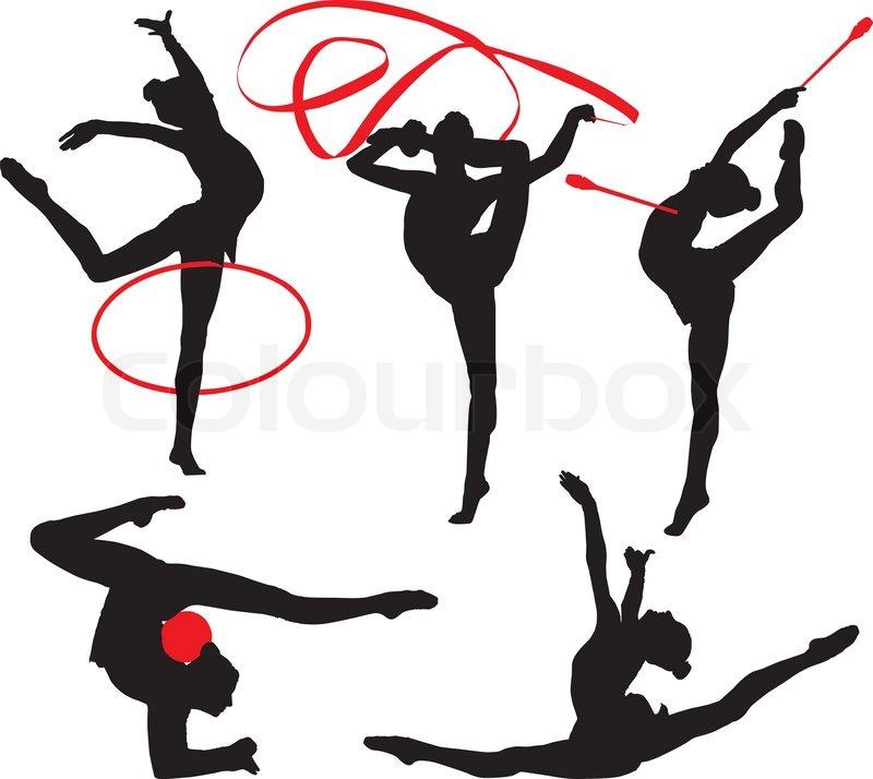 rytmisk gymnastik stock vektor colourbox