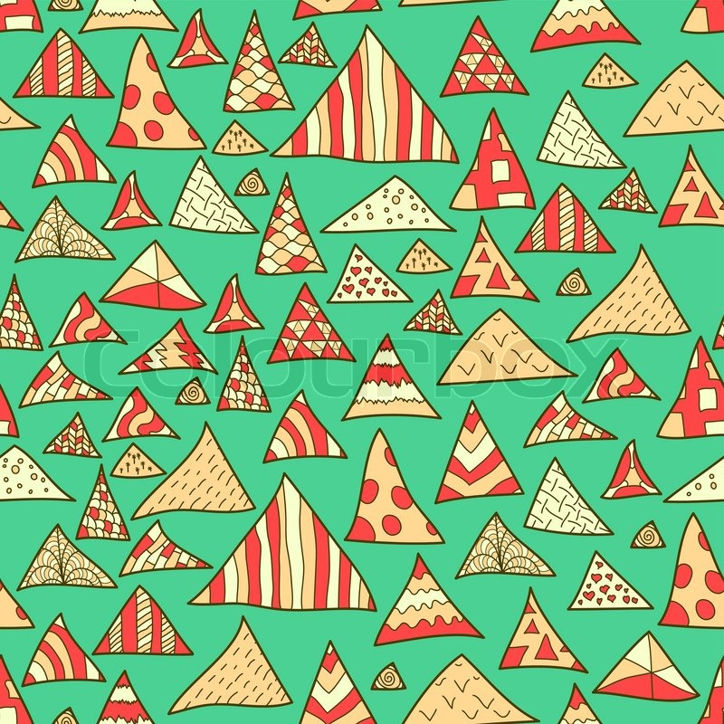 seamless background colorful hipster pattern of triangle