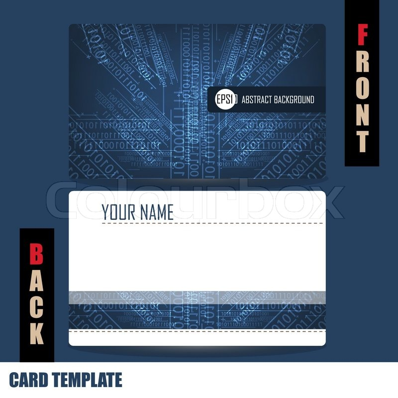 Modern technology and computing concept Business-Card Set | Stock ...