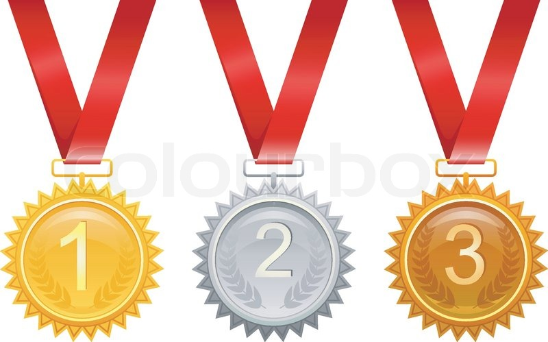 Tre medaljer til præmier | Stock vektor | Colourbox