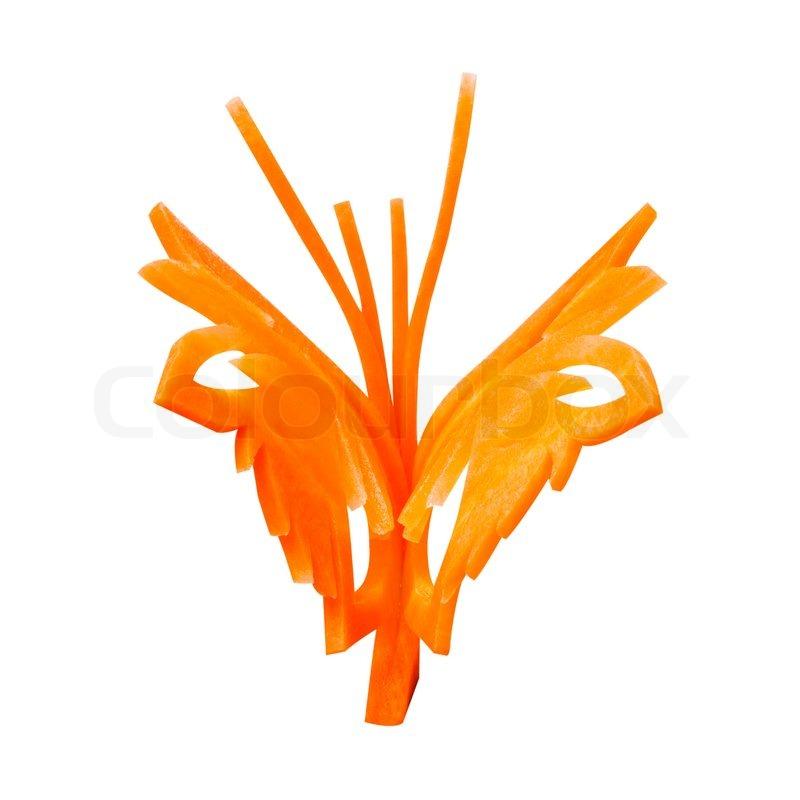 Schmetterling Schnitzen Aus Karotten F R Mahlzeit