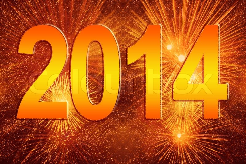 new year 2014 fireworks background stock photo colourbox