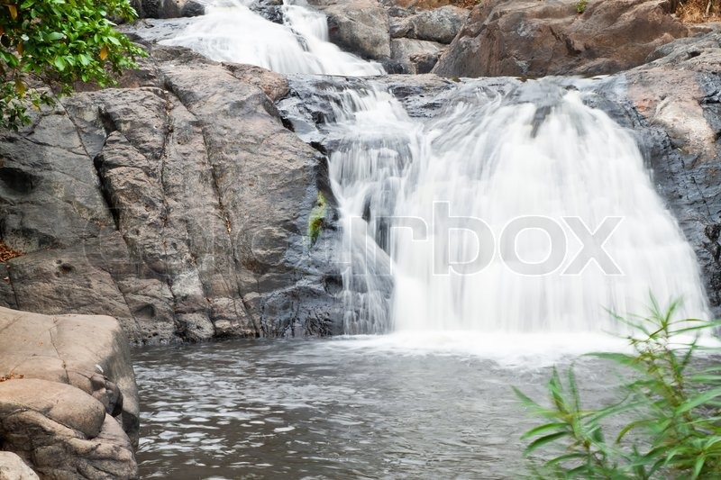 Water fall in spring season , stock photo