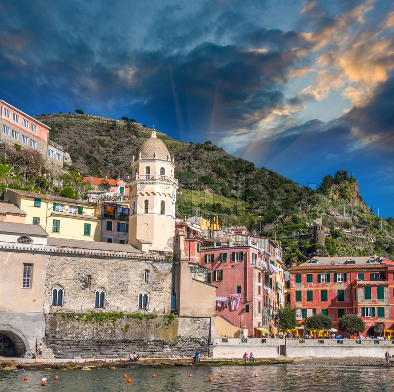 Quaint Village Of Riomaggiore, On The ...
