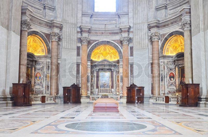 Fußboden Im Petersdom ~ Innenansicht des petersdom in vatikan stockfoto colourbox