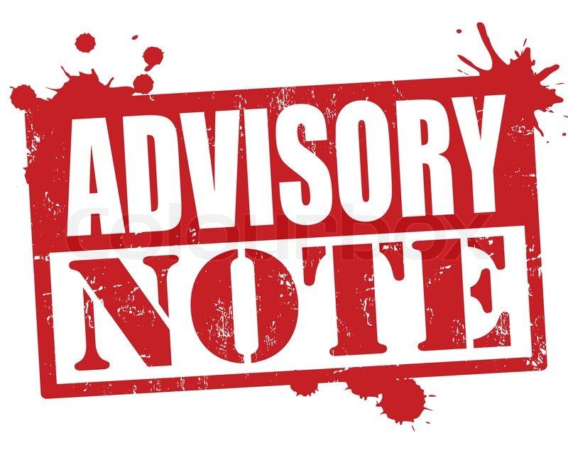advisory note Advisory note: 3 phrases in 2 subjects.