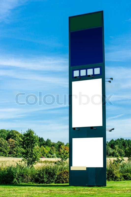 Billboard poster stand in the nature, stock photo