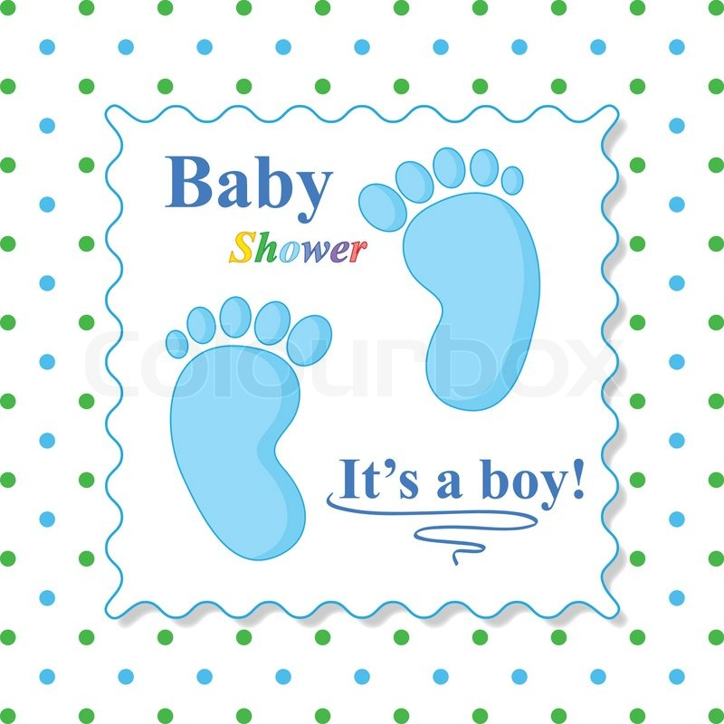 Baby Shower Karte Text.Sweet Baby Shower Card Blue Card Stock Vector Colourbox