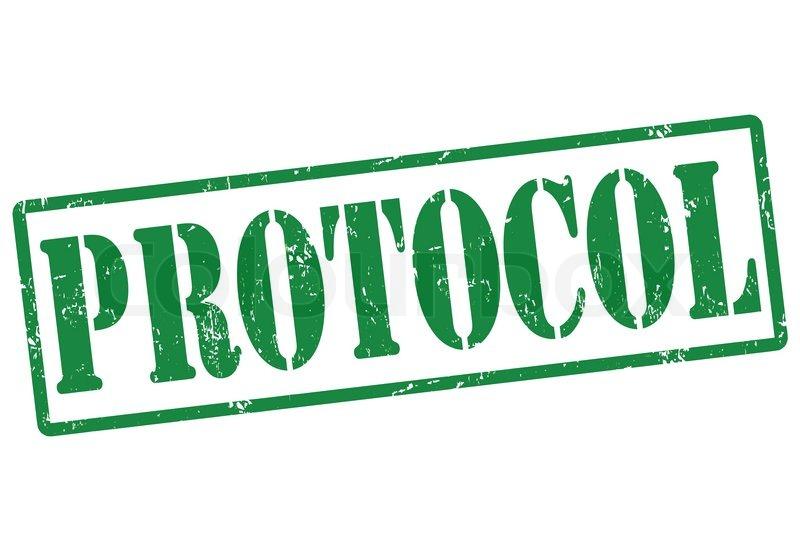 Protocol stamp | Stock Vector | Colourbox
