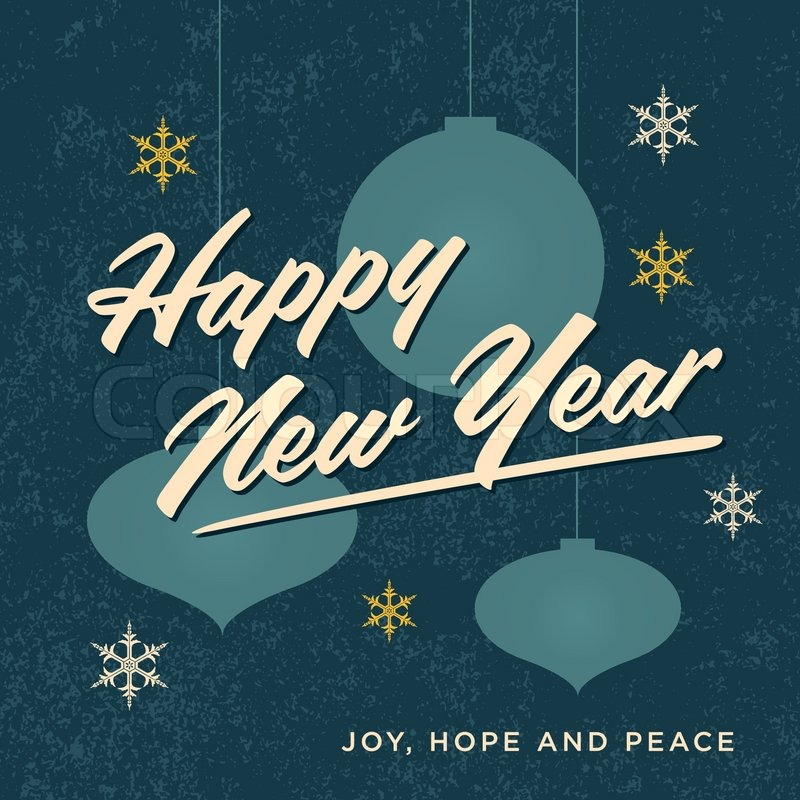 happy new year card retro vintage stock vector colourbox