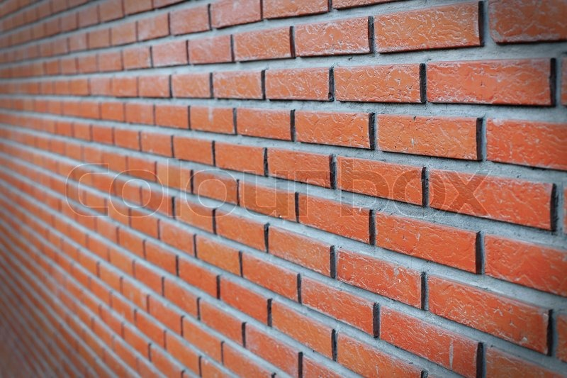 Side View Of Red Brick Wall