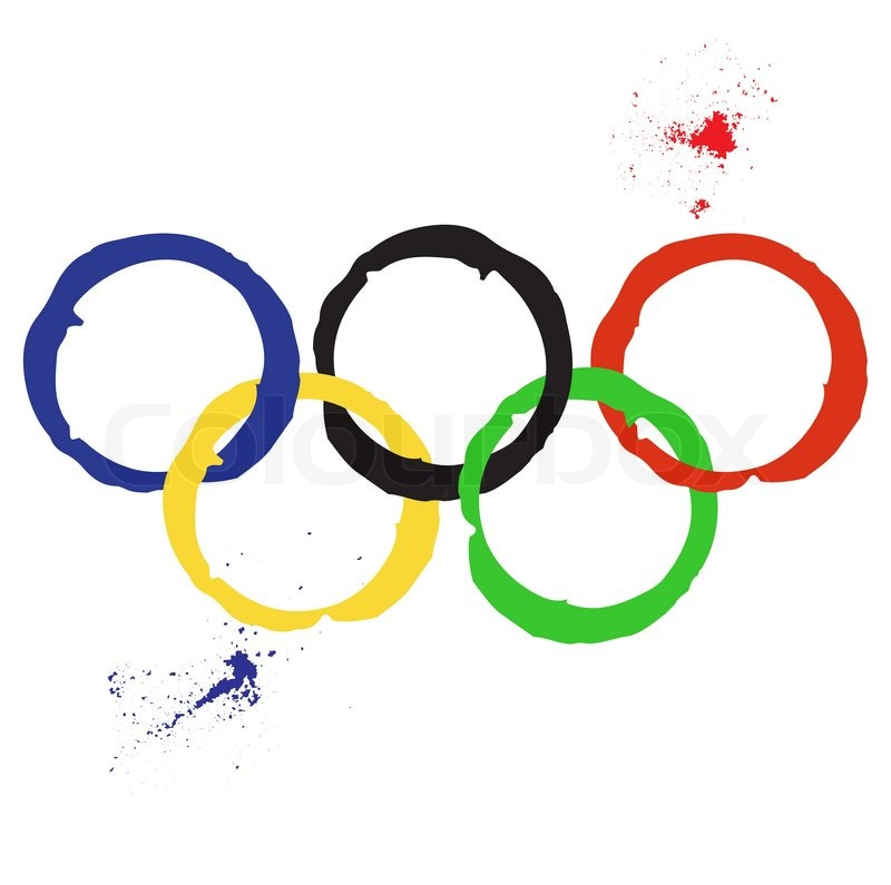 vector illustration of olympic rings stock vector colourbox rh colourbox com olympic rings vector free olympic rings in vector