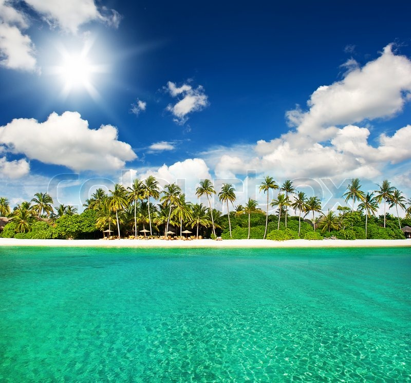 Tropical Island Paradise: Paradise Tropical Island Beach With ...