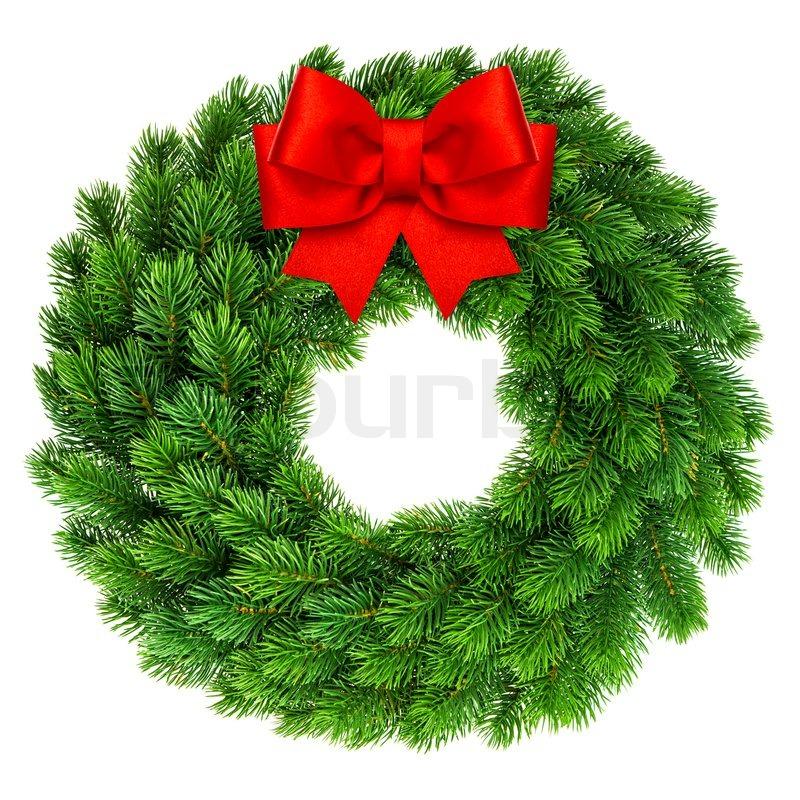 Weihnachten kranz mit roter schleife dekoration for Dekoration weihnachten