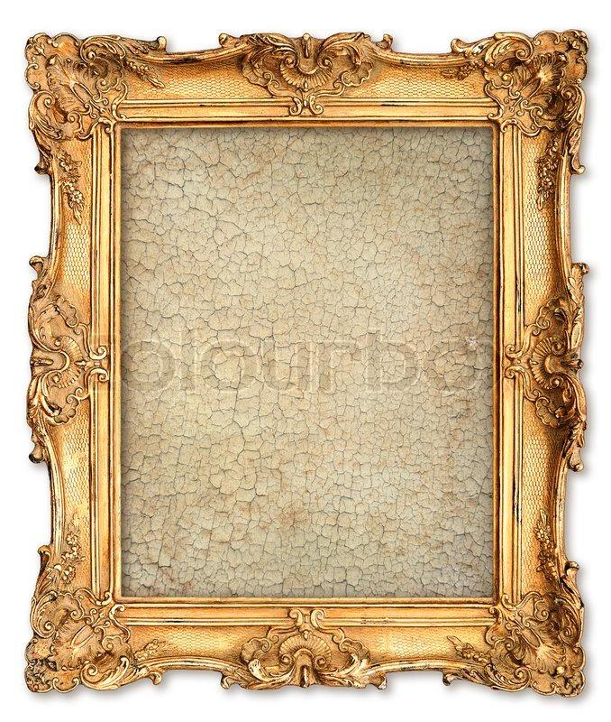 Goldener Rahmen mit leeren geknackt Leinwand für Ihr Bild ...