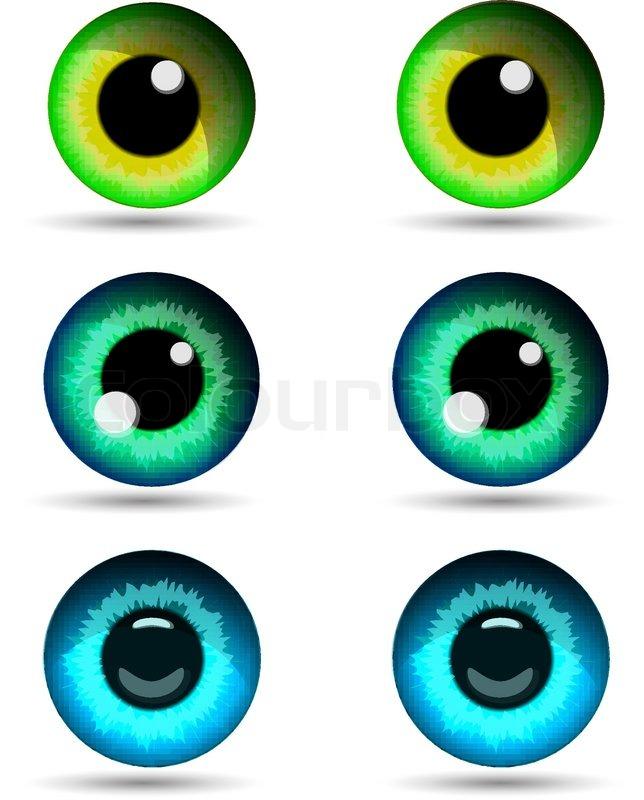 set of three pair of eyes vector illustration stock vector colourbox rh colourbox com eyes vector icon eyes vector art