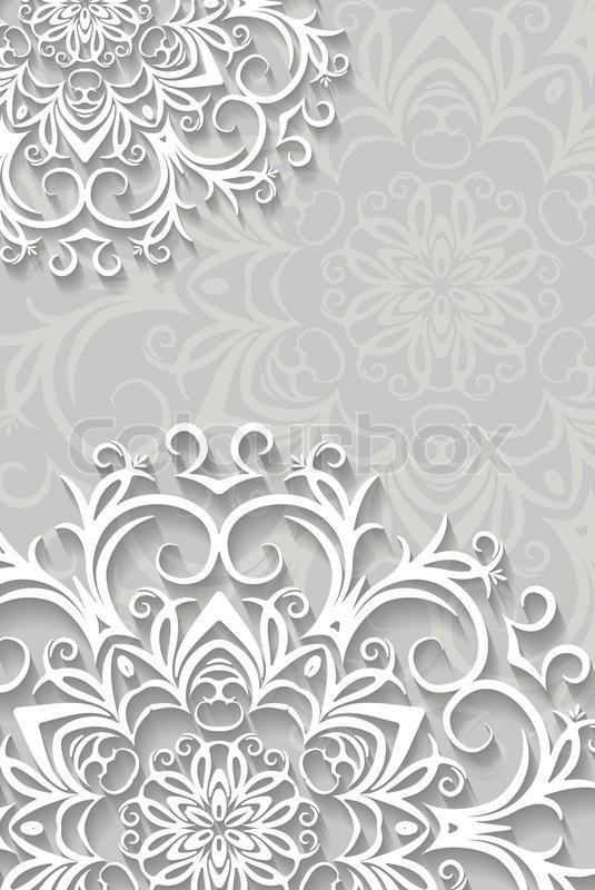 weihnachtskarte hintergrund mit papier schneeflocken vektorgrafik colourbox. Black Bedroom Furniture Sets. Home Design Ideas