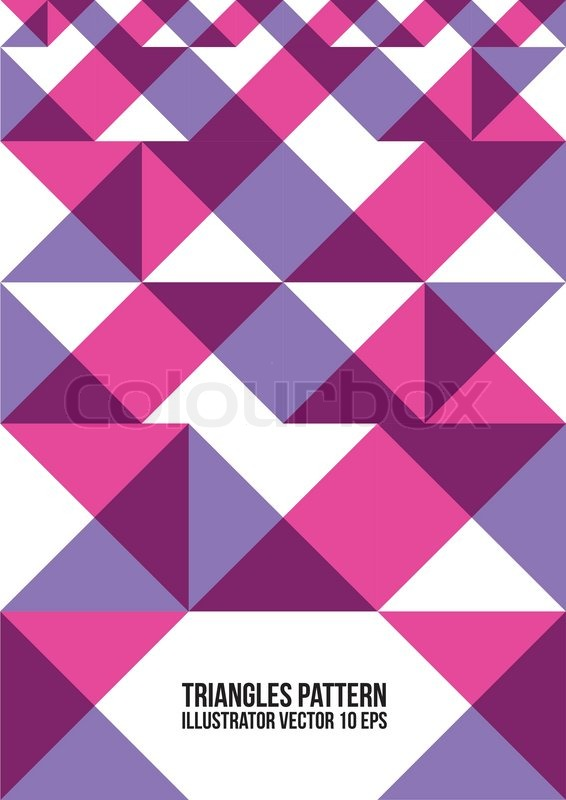 Abstract Colorful Triangle PatternBackground , Cover
