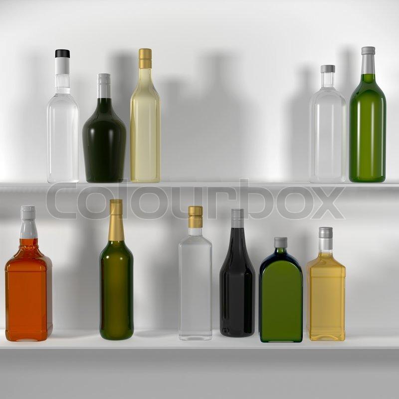 die bar regale mit flaschen stockfoto colourbox. Black Bedroom Furniture Sets. Home Design Ideas