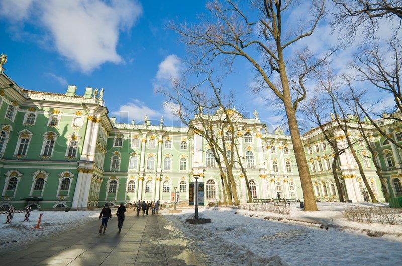 Vis Vinterpaladset Torv I Sankt Stock Foto Colourbox