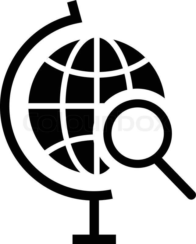 Vector globe search icon stock vector colourbox publicscrutiny Choice Image