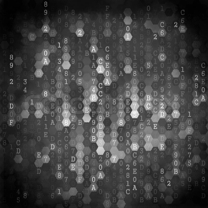 Digital Background Pixelated Series Of Numbers Of Black