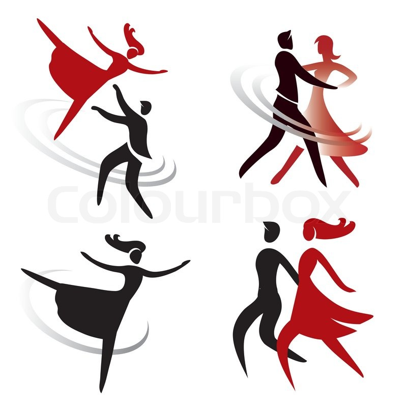 Dancing ballet icons stock vector colourbox for 1234 get on the dance floor video download