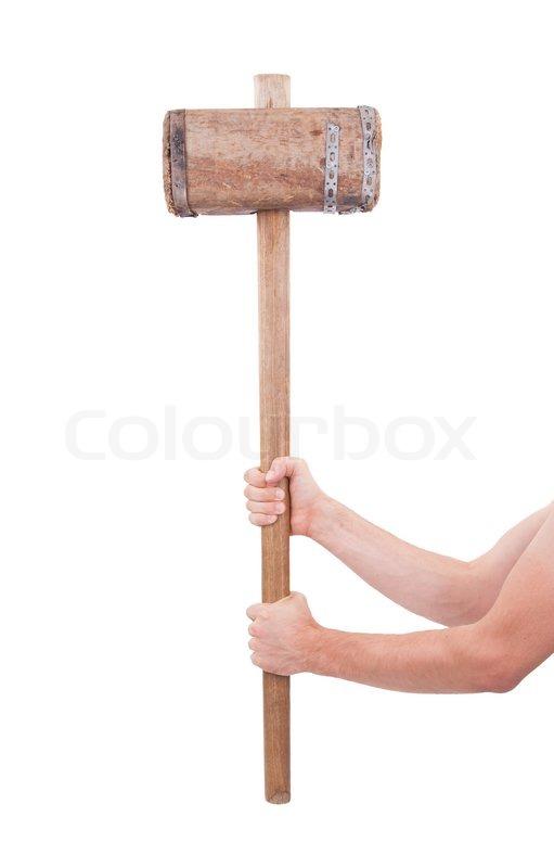 Billedresultat for stor træhammer