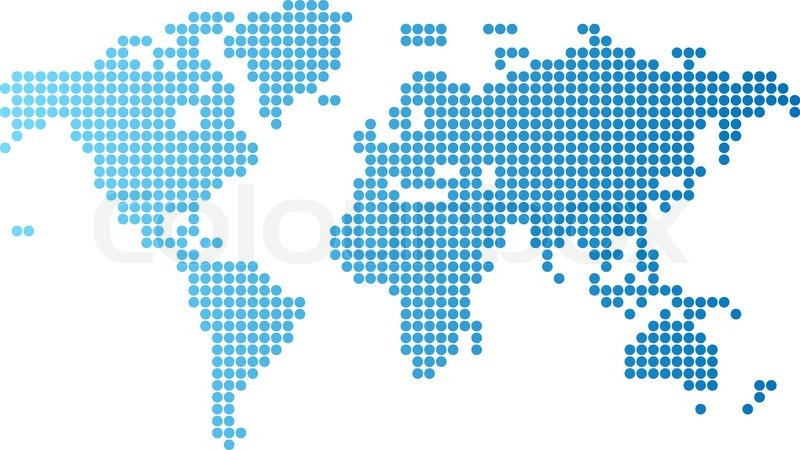 Abstract computer graphic world map of blue round dots vector abstract computer graphic world map of blue round dots vector illustration stock vector colourbox gumiabroncs Images