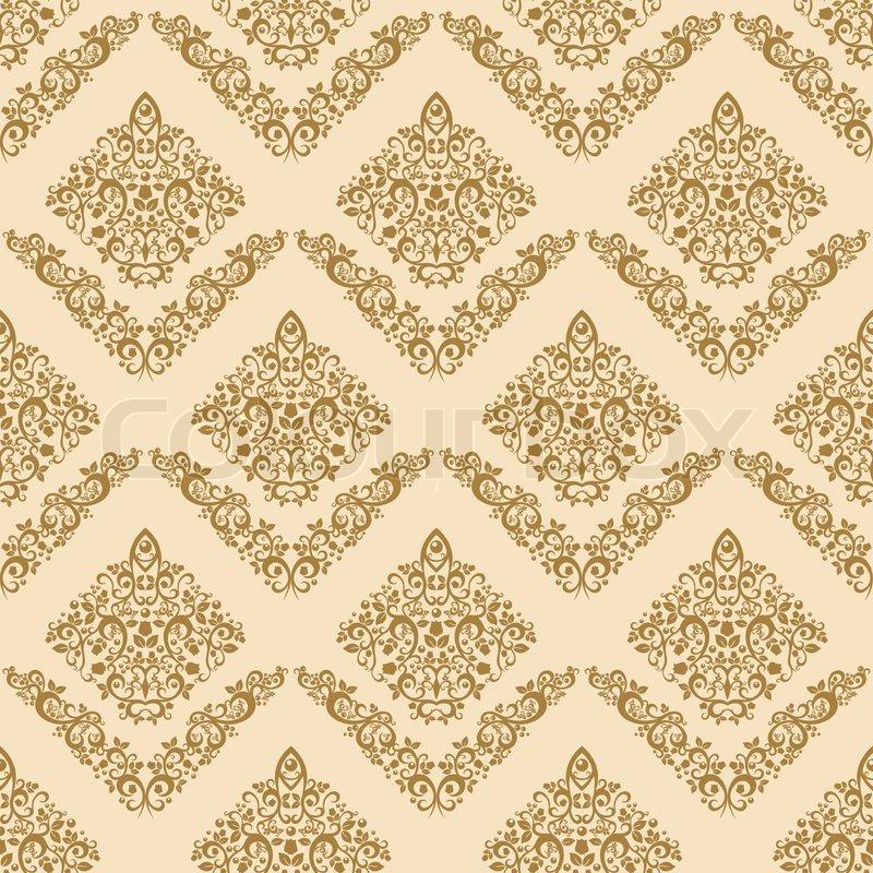 gold seamless floral elegant wallpaper vintage pattern