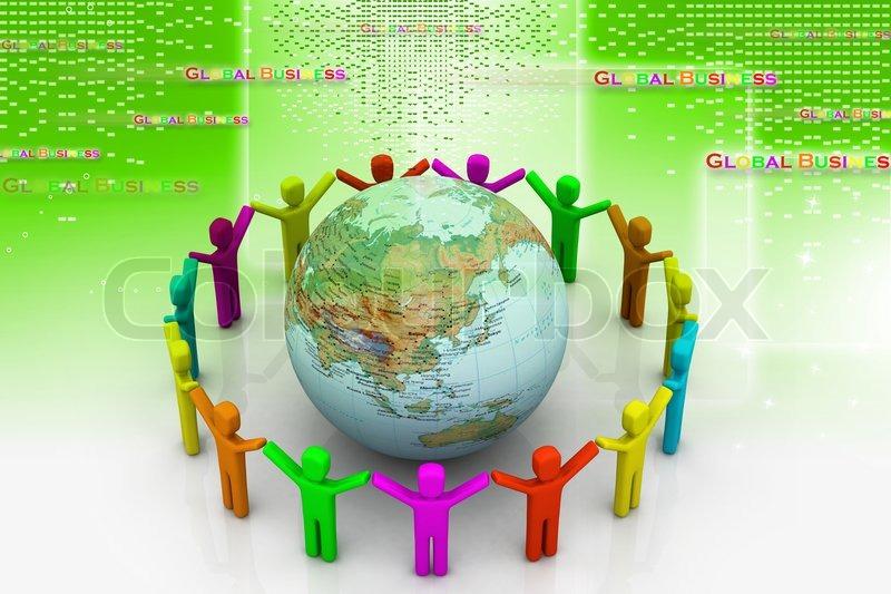 Global community, stock photo