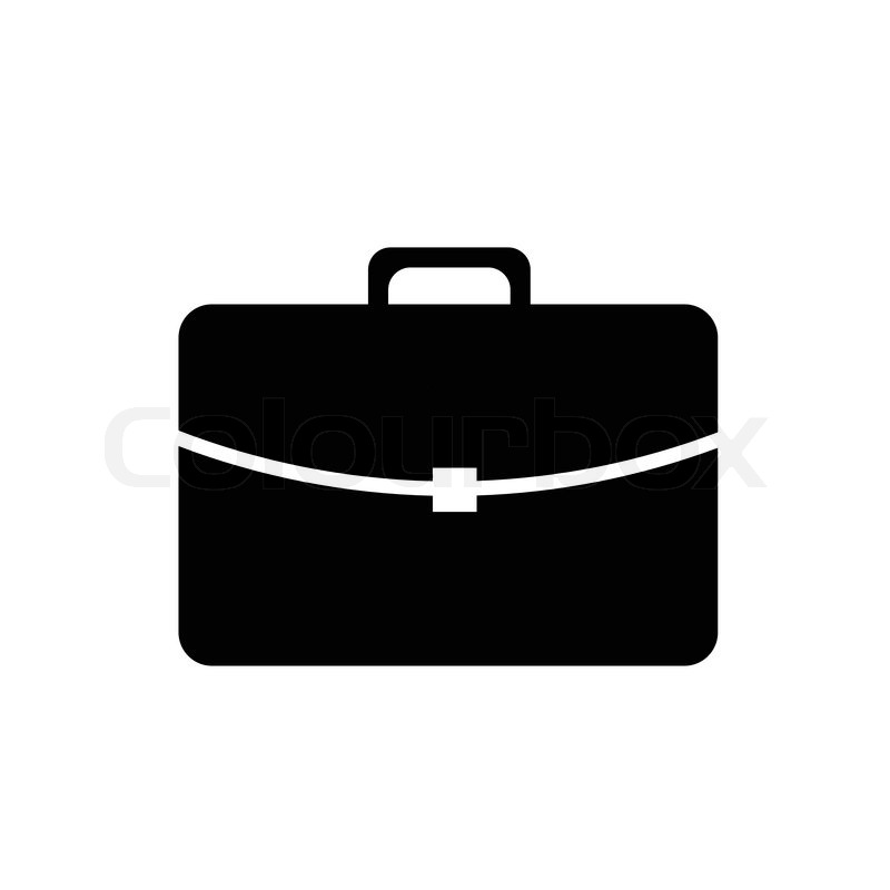 Simple Vector Pictogram Icon Of A Suitcase Stock Vector
