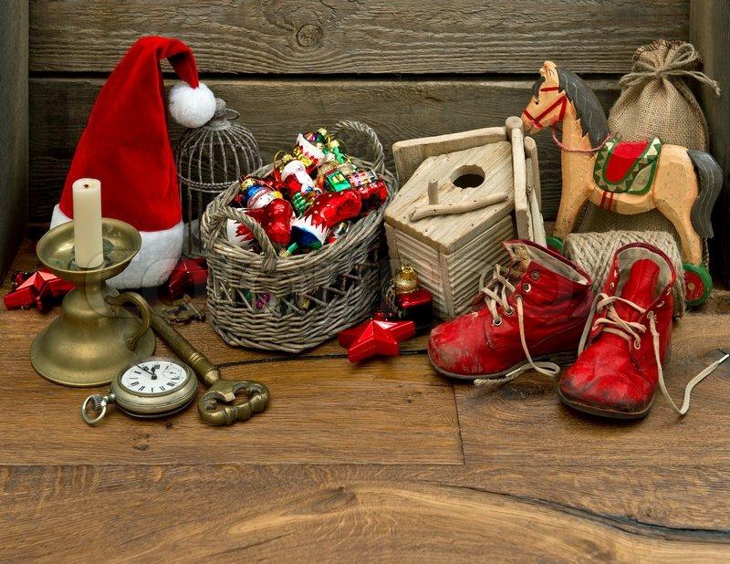 Weihnachten Nostalgisch.Antike Nostalgische Weihnachten Stock Bild Colourbox