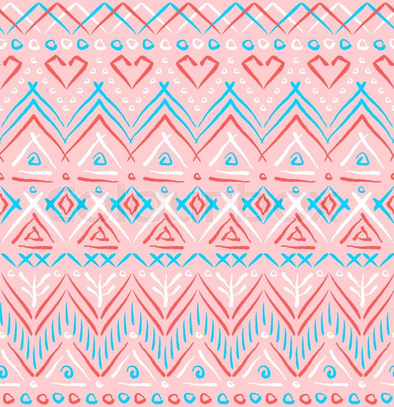 rosa tribal ethnischen nahtlose muster vektorgrafik colourbox. Black Bedroom Furniture Sets. Home Design Ideas